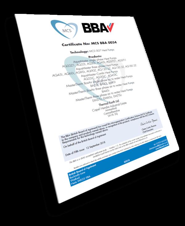 Certifikát BBA MCS